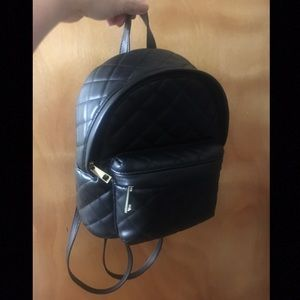Forever 21 Black Backpack with Gold Details